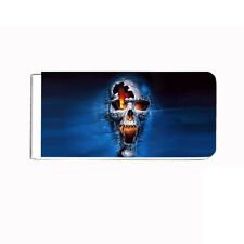 Metal Money Clip Cash Bills Credit Card Metal Holder Clip Skull Design-005