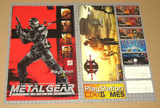 Metal Gear Solid MGS Sticker set with some other Stickers very Rare