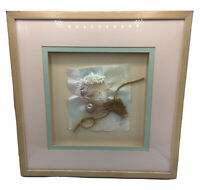 Paper Art 1988 MAUI Signed Matted and Shadow Box Framed 17x17 Pastel Ocean Finds