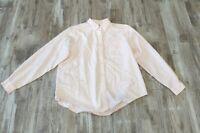 L.L. Bean Women's Light Pink Button-front Collared Long-sleeve Shirt Cotton Lg