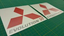 Mitsubishi Evo Lancer Evolution 6 side Spoiler decals stickers graphics JDM GSR