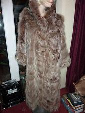 "Ladies gorgeous North American Raccoon fur coat bust 42"" size 14 length 48"" vgc"