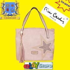 Borsa Donna Pierre Cardin colore Rosa decoro stella fashion mano spalla .