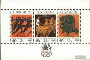 Surinam Bloque 37 (edición completa) nuevo 1984 juegos de verano