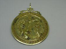 Medaglia votiva Cristo sulla croce '700 '800 – Placcata oro