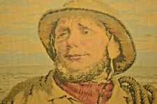 Antique SOLBERG Seafaring Man Sail Boat Seascape Fisherman Needlepoint Portrait