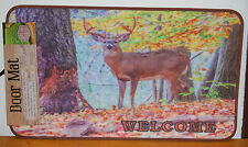 "17.7"" x 30"" Indoor/Outdoor Welcome Deer Scene Door Mat #70551"