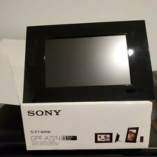 "Sony DPF-A72N   7"" Digital Photo Frame Used Remote Open Box Pictures"