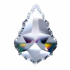 "2 Asfour Lead Crystal French Clear Chandelier Prism 3.5"" 89mm Pendalogue Pendant"