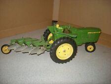 Vintage 1/16 John Deere 3020 Toy Tractor 3 PT & Plow Metal Wheels Ertl Diecast
