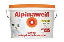 Alpina Innenfarbe Wandfarbe Alpinaweiß matt 1 L Weiss Streichen Renovieren