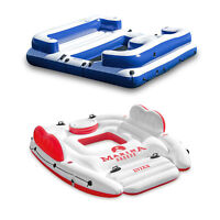 Intex Marina Breeze Island Raft + Oasis Island Inflatable Giant 5 Person Raft