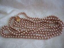 Elegant Glass Bead 3 Row Necklace Kenneth J. Lane Cafe Au Lait