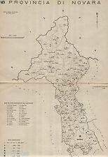 Provincia Novara: Comuni nel 1938,con Verbano-Cusio-Ossola.Anno XVI Era Fascista