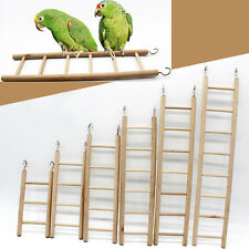 Wooden Ladder Bird Budgie Canary Hamster Gerbil Mouse Rats Cage Ladders Toys