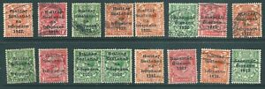 IRELAND 1922 used stamp collection unchecked for shades, varieties