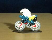 Smurfs 40501 Cyclist Smurf Bicycle Super Figure Vintage 1981 PVC Toy Figurine HK