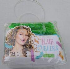 34 PCS & 1 Tool Magic Long Hair Curlers Spiral Ringlets Leverage in Cute Bag!