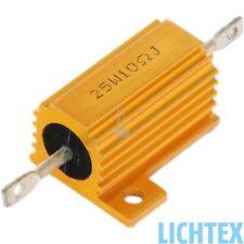 12V 25W 10 Ohm CAN-Bus Beleuchtungsfehler Wiederstand Leistungswiderstand NEW