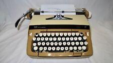"Vtg. ""Working"" Smith-Corona Typewriter ""Galaxie  Xll"" Brown/Beige w/Case & Key"