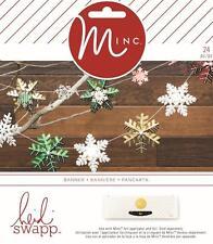 HEIDI SWAPP - Minc Christmas -  SNOWFLAKE BANNER KIT  312376
