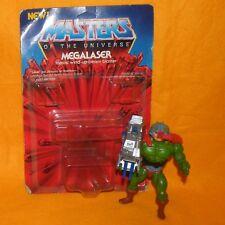 Vintage 1980 S MATTEL MOTU He-man MEGALASER MOC ouvert cardées MAN-AT-ARMS Figure