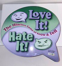 Love It! Hate It! Game In Tin Excellent Complete Patch Products 3-7 Players 12+