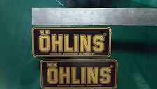 2x Ohlins BLACK & GOLD Decals Stickers Suspension, Bike, Shock, motorcycle STUNT