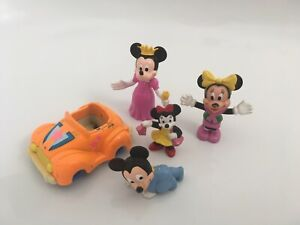 Disney Minnie & Mickey Mouse mini figures by Bullyland and Arco. Vintage toys