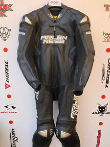 Arlen Ness Magnesuim One Piece race leathers with hump uk 40 euro 50