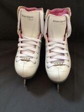 Riedell Girl's Model 14 Pearl with Luna Blades size 12J M ( gently used) 00004000