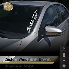 Custom Text Windshield Banner Car Sticker Vinyl Honda Acura JDM Euro Decal 4