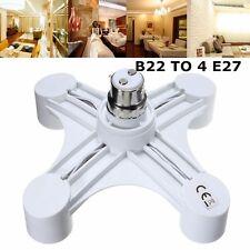 1 to 4 B22 to E27 Base Socket Splitter Light Lamp Bulb Adapter Holder Converter