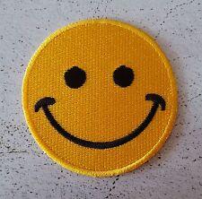Ecusson Patch thermocollant brodé Smile, Smiley, Sourire, Happy