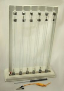 Geissler Discharge Tubes, Set of 6 with Stand