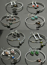 Turquoise & Mix stone 925 sterling silver plated Bangles & Earring wholesale Lot