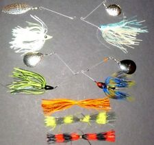 Manufacturer's Mix 3/8-3/4 Spinner Bait Package (Lot of 4+3 Extra Skirts-SB12)