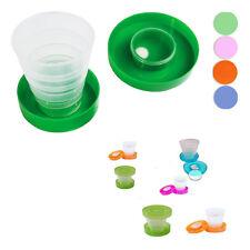 Bicchiere Tascabile Richiudibile Porta Compresse Plastica Campeggio Viaggi moc