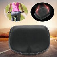 Seat Black Big Ass Bike Saddle Wide Large Bike Cycling Noseless Soft PVC