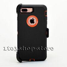 iPhone 7 Plus Hard Case w/Holster Belt Clip for Otterbox Defender (Black/Orange)
