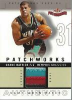 2003-04 Fleer Patchworks Jerseys Dual Color #SB Shane Battier Jersey/100 - NM-MT