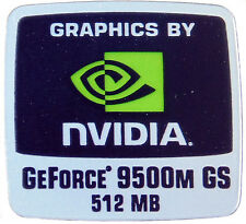NVIDIA GEFORCE 9500M GS 512MB  STICKER LOGO AUFKLEBER 18x18mm (336)