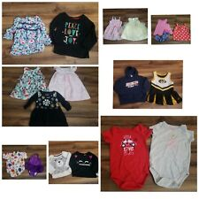 Toddler Girl's Mixed Clothing Lot Size 12 Months Dresses, Shirts and More