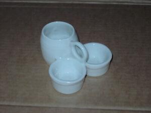 Menage Porzellan alt aber top, Gewürzbehälter Tischmenage Salz-Pfeffer-Senf-Set