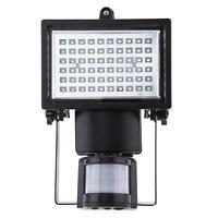 60LED Solar Infrared Sensor Lights Black Fashion Home Room Infrared Sensor Light