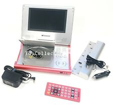 Polaroid Portable Dvd Player Pink Dpa 07046P with remoted and Battery Tested