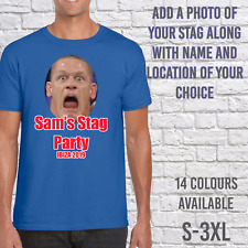 STAG DO T-SHIRTS MENS TEE SHIRT STAG PARTY PHOTO PERSONALISED CUSTOM DESIGN TOP