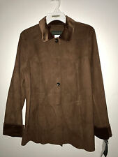NWT HARVE BENARD Faux Suede Look Machine Washable Size 8 Rusty Brown