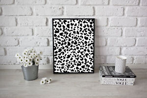 Stylish Living Room Kitchen Leopard Print Poster Decorative Print Artwork A3 A4