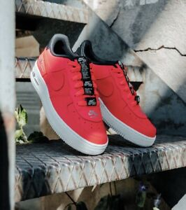 Nike Youth Air Force 1 LV8 3 (GS) Laser Crimson Black Size 4-6 Uk [CJ4092-600]
